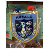 5 DIFFERENT APOLLO NASA PATCHES