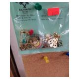 Asst Gold Toned Pins & Jewelry