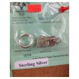 (2 Pr) Sterling Silver Pierced Earrings