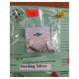 Pr Sterling Silver Pierced Earrings