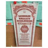 Lehigh Valley Railroad $500.00 Bond