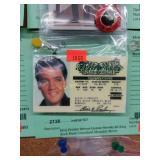 Elvis Presley Drivers License Novelty ID King Rock