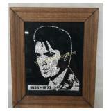 +Small Framed Elvis Presley Tin Foil Picture