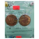 (2) Bethlehem Steel Employee Pay Check ID FOBs