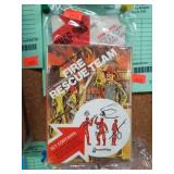 Vintage Fire Rescue Team Snap-Ons Plastic