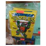 (7) Unopened Yellow Packs of TMNT Cards - 1989
