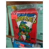 (6) Unopened Red Packs of TMNT Cards - 1989