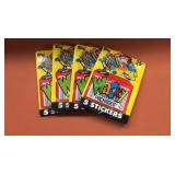 (4) 1990T Wacky Packages Wax Packs