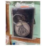 +Vintage Pewter Disney World Key Chain