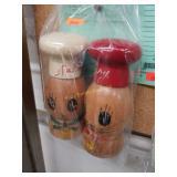 C1950s Wooden Cat s+p Shakers