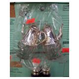 Greatest set of Glass+Metal Coffee Pot s+p