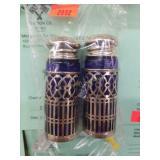 Cobalt Blue Glass s+p Shakers