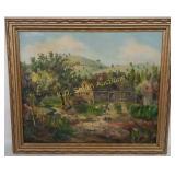 +Framed Oil-On Canvas signed