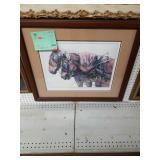 "+Framed Deborah Camero Horse Drawing ""48/500"""