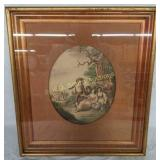 +Framed Color Lithograph