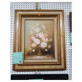 Framed Robert Cox Still Life Oil Painting