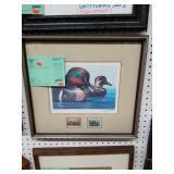 framed 1977 Federal duck stamp print - Michaelsen
