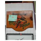 """Remington """"First in the Field"""" Wooden Plaque"""