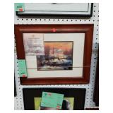 framed Kinkade winter scene