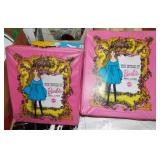 2 BARBIE CASES WITH DOLLS & CLOTHES