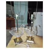 GLASS SWAN LAMPS