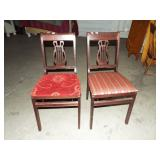 2 LYRE BACK CHAIRS