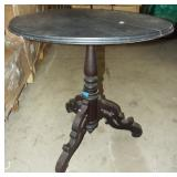 EARLY PEDESTAL LAMP TABLE