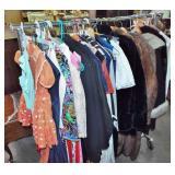ASSORTED RETRO CLOTHING & COATS