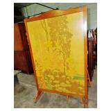 LARGE DECORATED DRESSING SCREEN