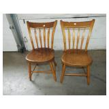 ARROW BACK PLANK SEAT CHAIRS