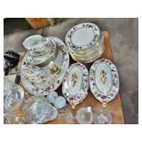 EARLY ASSORTED ENGLISH DINNERWARE