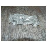 GLASS CAR CANDY CONTAINER