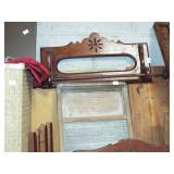 VICTORIAN TOWEL RACK AND WASHBOARDS