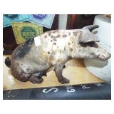 LARGE CAST IRON PIG