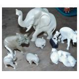 MINI CARVINGS OF ELEPHANTS & MISC.