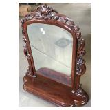 CARVED FRAMED SHAVING MIRROR