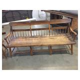 PLANK SEAT HALF SPINDLE DEACONS BENCH