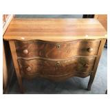 SERPENTINE FRONT 2 DRAWER WASHSTAND