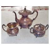 SILVERPLATE TEA SET