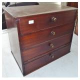 WOODEN 4 DRAWER CHES