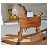 WOODEN FOLK ART ROCKING HORSE