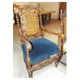 FANCY CARVED ARM CHAIR
