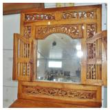 CARVED FRONT MIRROR OPEN
