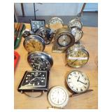 ASSORTED EARLY ALARM CLOCKS