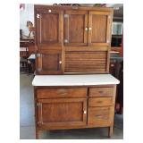 OAK HOOSIER TYPE KITCHEN CABINET
