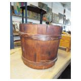 EARLY WOOD BAND BUCKET
