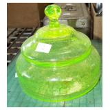 VASELENE CRACKLEGLASS COVERED CANDY DISH