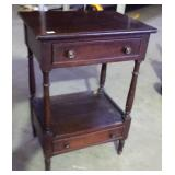 EARLY 2 DRAWER OPEN WASHSTAND