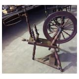 EARLY SPINNING WHEEL