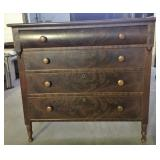 BURL FRONT 4 DRAWER HIGH CHEST